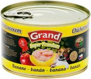 Grand Super Premium Dog kuřecí/banán 380 g
